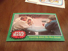 Vintage 1977 STAR WARS #202 Movie Film Trading Card INquiring Obi-Wan Kenobi old