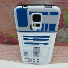 R2D2 Star Wars Robot #V Rubber+Leather Cover Case for Samsung Galaxy S5 S V