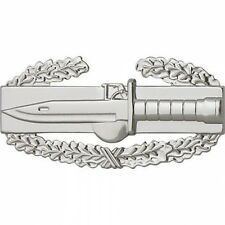 "US Army Badge Combat Action First Award  Regulation size Mirror Finish   2"" long"
