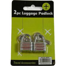 2 X BAGAGLI LUCCHETTI CON CHIAVI 19mm VALIGIA BAGAGLIO gli armadi palestra Pad Lock Bags