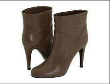 $650 NEW BALLY Women US 9.5 EUR 40 Chestnut Leather Ankle Booties Boots Shoes BX