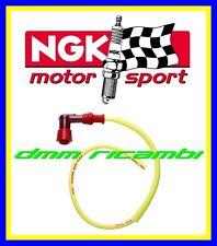 Cavo candela silicone NGK RACING giallo + cappuccio attacco pipetta LZ05F LY011