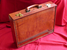 Vintage new men's briefcase in genuine leather - suitcase, bag, case, luggage