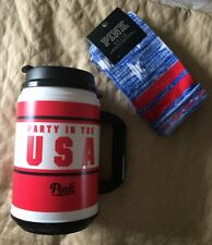 NEW Victoria's Secret PINK Party in the USA Chug Mug Cup & Star Blue Socks O/S