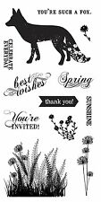 """Fiskars Clear Stamps 4"""" x 8"""" - What a Fox! - Invite, Thank You, Spring, Flowers"""