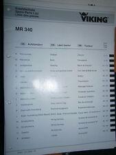 VIKING tracteur de pelouse MR340 MR 340 : catalogue de pièces 2002