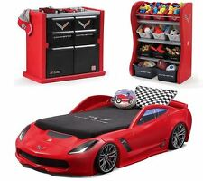 Kids Bedroom Sets for Boys Corvette Bed Dresser Toy Box Headlights Toddler Twin