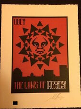 Shepard Fairey - Law of Physics - Letterpress - Obey Giant - Signed / Numbered