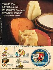PUBLICITE  1967   LA VACHE QUIT RIT  fromage  PANORAMIX & ASTERIX