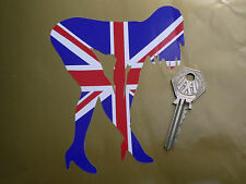 UNION JACK PIN-UP Girl Car Sticker Sexy Lady Woman Naked Silhouette Truck GB UK