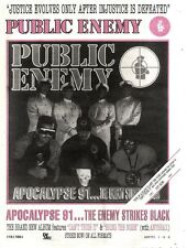 "12/10/91 Pgn51 Advert 15x11"" : Public Enemy apocalypse 91...the Enemy Strikes Bl"