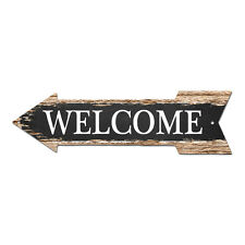 AP-0302 WELCOME Arrow Street Chic Sign Name Sign Home man cave Decor Gift