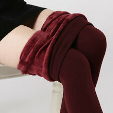 New Women's Solid Fleece Lined Thermal Sexy Skinny Winter Warm Leggings Pants KY