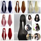 New Fashion Women's Wigs Full Long Straight Wig Cosplay Costume Wig 80/100cm
