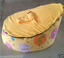 New  Canvas Yellow  Baby infant Bean Bag Snuggle Bed Portable Seat No Filling