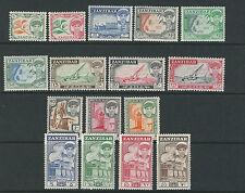 ZANZIBAR 1964 definitives complete BOATS etc (Scott 264-79) VF MNH