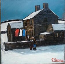 SNOW  CLEARING original oil painting james downie
