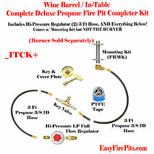 ITCK+ Universal DIY LP Tank-In-Table Complete Deluxe Wine Barrel/ Fire Table Kit