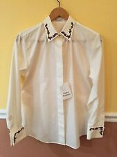 Women's Long Sleeve Holiday Themed Blouse with cuff links (Size 6) - VERY RARE