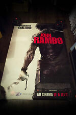JOHN RAMBO Style A Giant 4x6 ft D/S French Movie Poster Original 2008