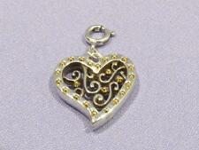 Brighton Snap Charm Bead GATE OF LOVE Heart Silver/Gold for Necklace/Bracelet