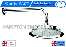 Center/Bristan LARGE 220mm Chrome Shower Head Complete with arm  GORGEOUS! {B}
