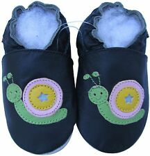shoeszoo snail black 18-24m S soft sole leather baby shoes