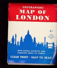 Geographers Map of London England Including Underground Map Index to Streets