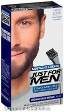 Just For Men Medium Dark Brown Moustache and Beard M-40 M40- FREE DELIVERY