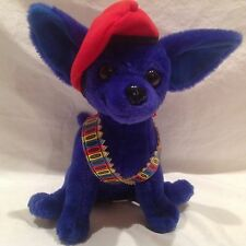 """16"""" Chihuahua Dog Stuffed Plush W/Beret Armed With Crayon Bullet Vest Nanco 2000"""