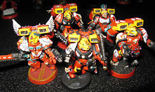 40K Blood Angels Assault Marines Squad B fully painted.