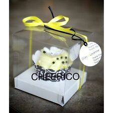 Standard Cup Cake Box clear with White base - Hold 1 cupcake - 25 sets in a Pack
