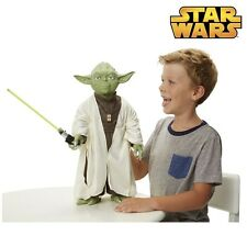 NUOVO Star Wars Grande 18-inch YODA ACTION FIGURE CON LUCE SABRE-High Detail