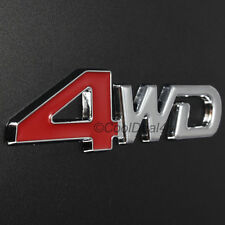 4WD Metal Emblem RED Car SUV Decal Sticker 3D Logo : Toyota,Ford,Honda,Suzuki