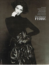 PUBLICITE ADVERTISING 025  1994   GIANFRANCO FERRE haute couture photo B. RHEIMS