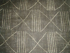 "RALPH LAUREN CURTAIN/UPHOLSTERY FABRIC ""Lagos"" 4.3 METRES EBONY  BLACK PALMS COL"