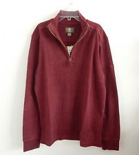 NWT Timberland Men's Long Sleeve Canoe River Polo Shirt Size M Red