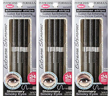 Physicians Formula Extreme Shimmer Strips Eyeliner Trio, Smoky Eyes 6412 (3Pack)