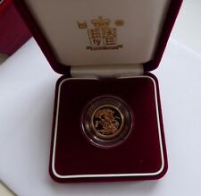 2001 GOLD PROOF HALF SOVEREIGN