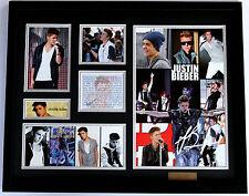 New Justin Bieber Signed Limited Edition Memorabilia Framed