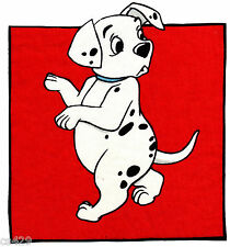 "8"" DISNEY DALMATIANS DOG CHARACTER FABRIC APPLIQUE IRON ON PANEL"