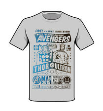 Marvel Avengers Thor vs Ultron T-shirt Heather Grey Large New Collector Corps