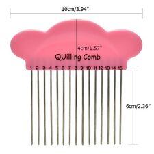 DIY Cloud Paper Quilling Comb Plastic Holder Origami Carding Art Craft Tool FG
