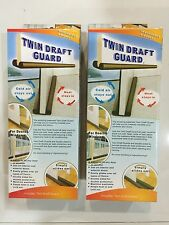 2 BOX Twin Door Draft Dodger Guard Stopper For Doors Windows Protector Doorstop