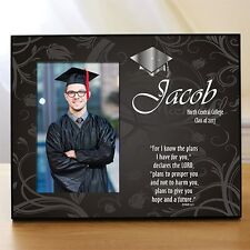 Personalized Graduation Gift Picture Frame Blessings Christian Graduation Frame