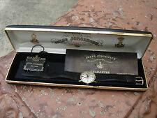 Vintage Rare Jules Jurgensen 14K Solid Gold 17j Swiss Mechanical Watch Box Book