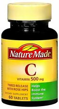 Nature Made Vitamin C 500 mg Tablets 60 Tablets
