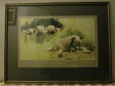 David Shepherd Signed Limited Edition Lithographic Print. Porkers (Pigs) 471/850