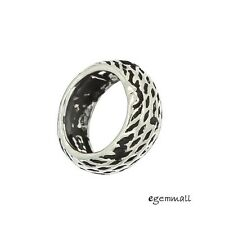 1x Antique Sterling Silver Ring Rondelle European Charm Spacer Bead 10mm #97492