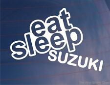 EAT SLEEP SUZUKI Funny JDM Car/MotorbikeWindow/Bumper/Laptop Sticker/Decal